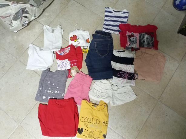2 lotes roupa M e criança 4-6 anos