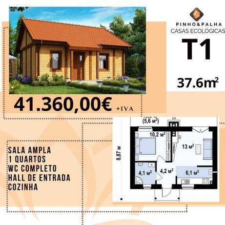 Casas pré fabricadas em madeira e palha