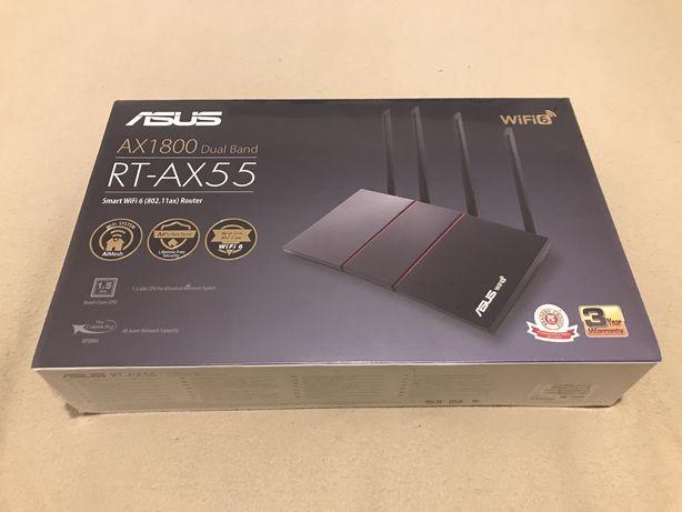 Безпроводной маршрутизатор (роутер) ASUS RT-AX55.  Гигабитный! Новый!