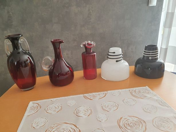 kolekcja szkła projektu prof. Jerzego Słuczana-Orkusza 11 sztuk + krys