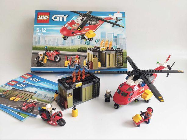 Lego City 60108 Fire Response Unit пожарный вертолет (100% полный)
