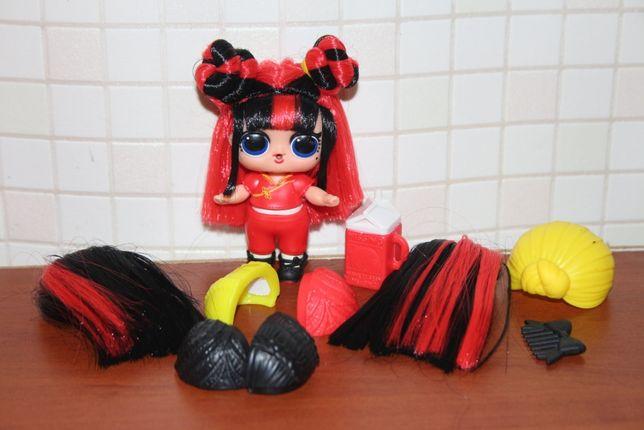 Кукла Лол lol hairvibes Blackbelt Черный пояс меняет цвет с волосами
