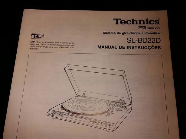 Technics SL BD22 manual original