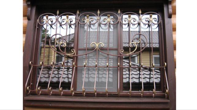 Решетки кованные сварные на окна оконные, металлоконструкции, балконы
