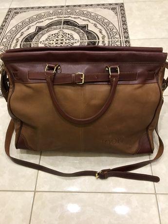 Кожаная дорожная сумка Joop оригинал Lagerfeld