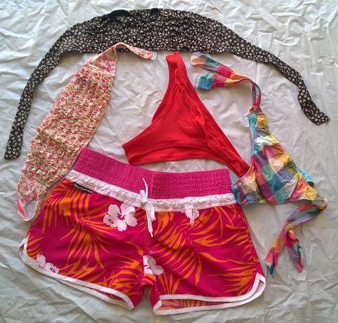 Conjunto: Bikini + Soutien + Tanga para Senhora (Dou envio)