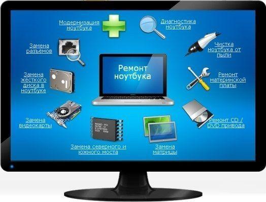 Ремонт ноутбуков, компьютеров, бытовой техники и телефонов