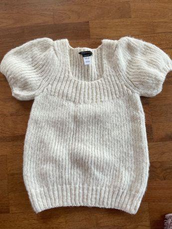Sweter biały z alpaki