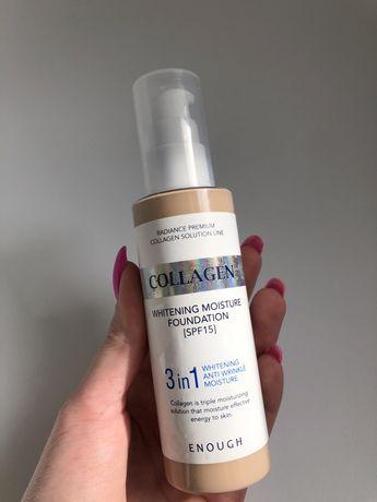 Тональный крем Enough 3in1 Collagen Whitening Moisture Foundation SPF