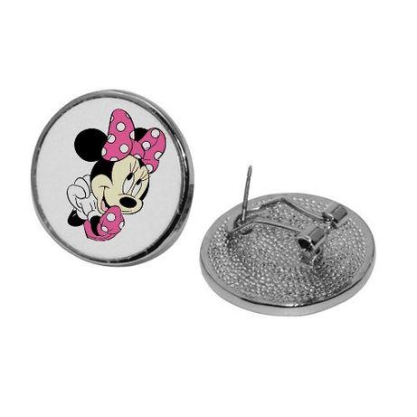 Kolczyki okrągłe Minnie Disney postacie