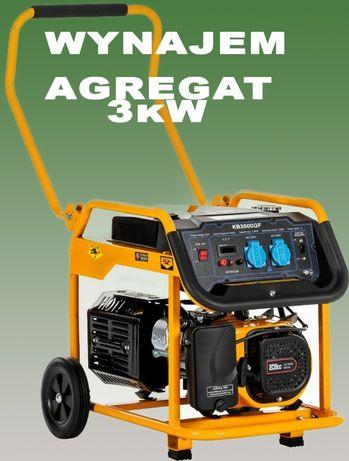 Wrocław AGREGAT prądotwórczy 3 kW WYNAJEM