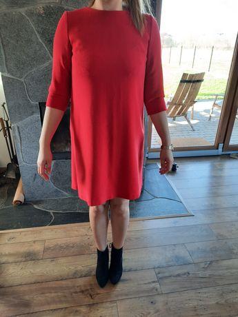 Sukienka 38 czerwona, zara h&m eden