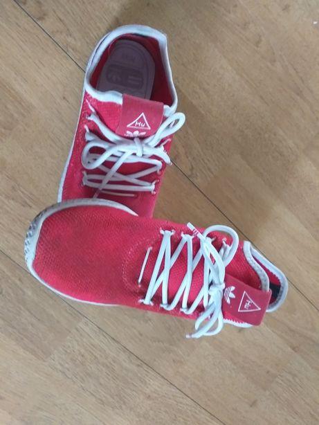 Adidas buty damskie czerwone pharrell williams tennis hu
