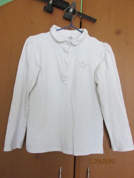 Шкільна біла футболка -кофта для дівчинки
