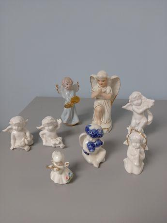 Porcelanowe figurki aniołków 8 szt.