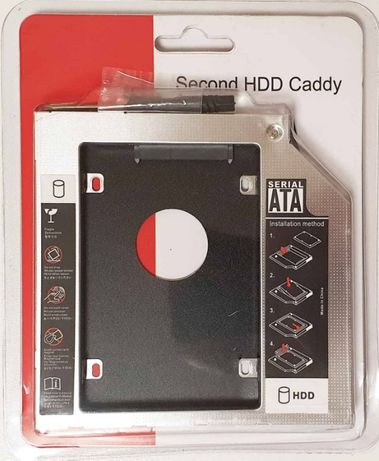 Металл Новый HDD SSD 2.5'' карман кишеня caddy 9.5 SATA optibay