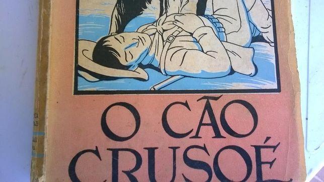 Livro antigo Biblioteca dos Rapazes O Cão Crusoé