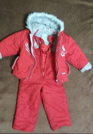 Комбинезон для девочки, недорого для прогулки, 86 размер, куртка