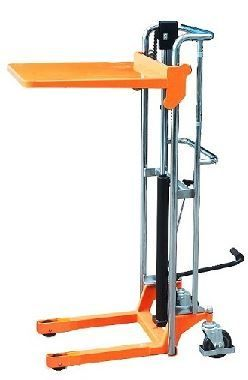 Empilhador stacker monta-cargas porta-paletes manual plataforma elevaç
