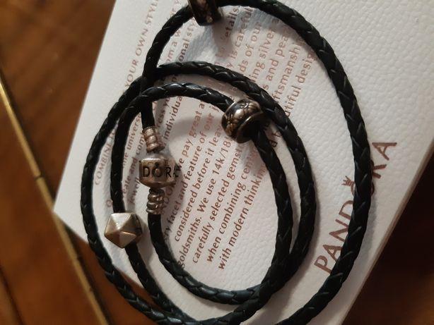 Кожаный браслет Pandora, пандора
