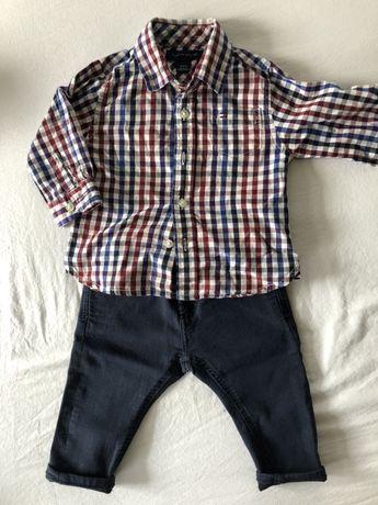 Piękna koszula Tommy Hilfiger w kratę 6-9 mies