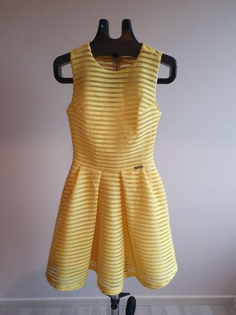 Sukienka żółta S.moriss XS rozkloszowana