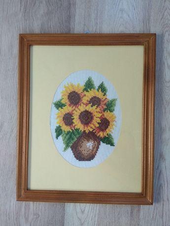 Słoneczniki - haft krzyżykowy