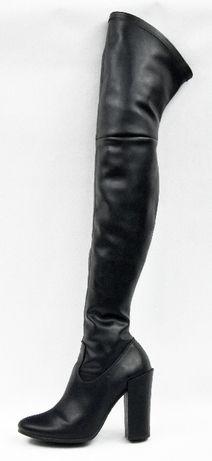 Czarne muszkieterki damskie Kazar - 38