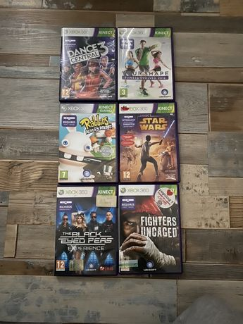 Xbox 360 Rabbids, Black Eyed Peas, Star Wars, Fitness, Dance Central 3