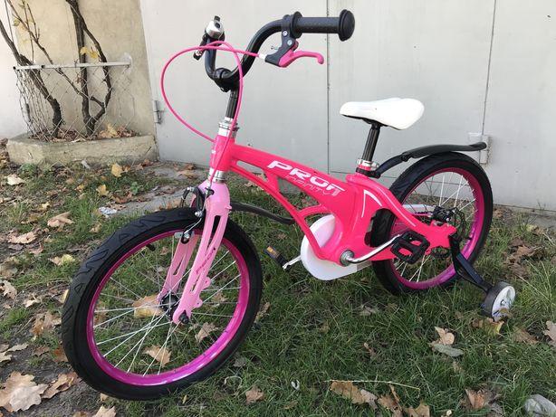 Велосипед двухколесный для девочки 18 диаметр