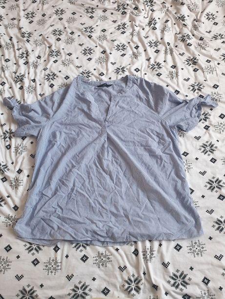 Koszula niebieska w paski 46