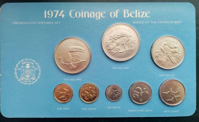 Белиз набор монет 1974 год. Uncirculated specimen set.