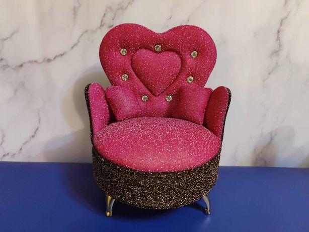 Кресло диван - шкатулка для украшений для бижутерии ларец мебель кукол