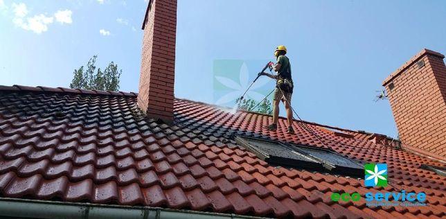 Mycie czyszczenie dachów fasad dachu kostki brukowej elewacji