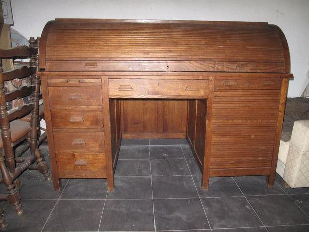 Escrivaninha madeira de castanho - Antiguidade!