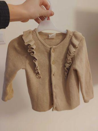 Sweterek z falbankami 80 H&M exclusive jak newbie