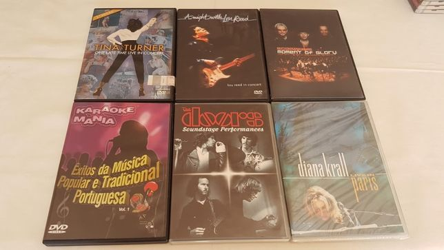 Vendo 6 DVD musicais