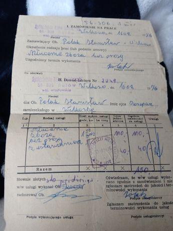 Dokument 1967r + znaczek
