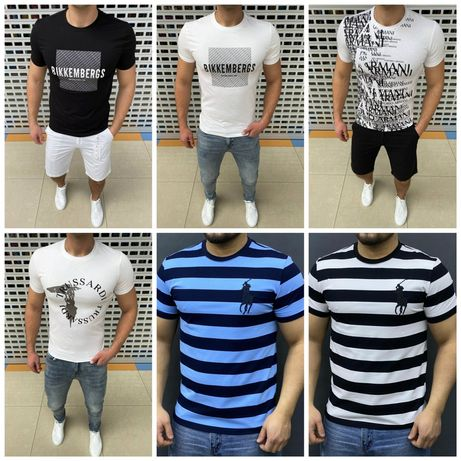 Мужские футболки Armani, Trussardi