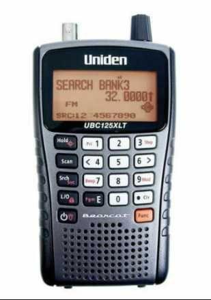 Scanner Portátil UNIDEN UBC-125XLT 25-960 MHz 500 canais - Radioamador