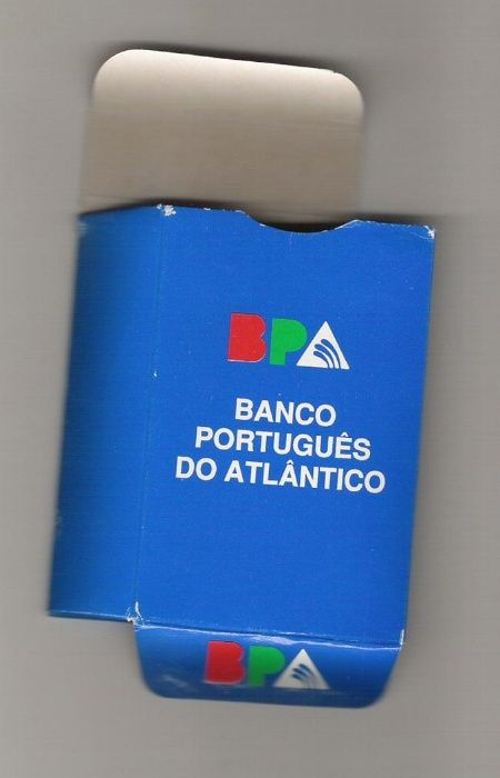 Baralho cartas alusivo ao Banco Português Atlântico Novo Santarém - imagem 1