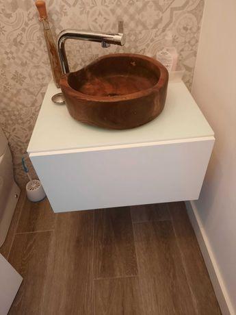 Móvel suspenso para casa de banho