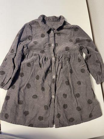 Вельветовое платье Zara 3-4 года, в хорошем состоянии