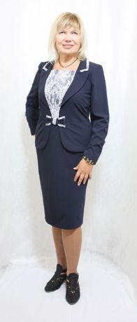 Нарядно-деловое платье с гипюром белорусское, р. 56-54 РАСПРОДАЖА!