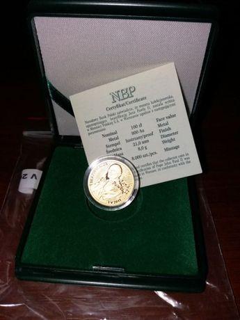 Złota moneta NBP 100 zł Beatyfikacja Jana Pawła II – 1 V 2011