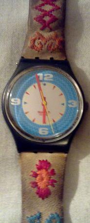 Relógio Swatch Bordado - A funcionar