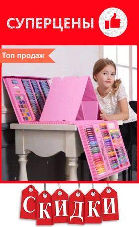 Набор детский большой 208 предметов для рисования и творчества Set624