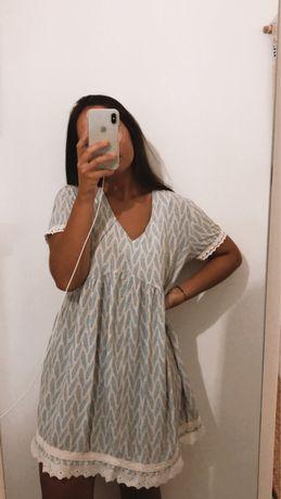 vestido com padrão