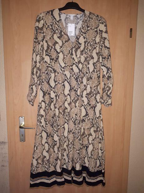 Sukienka nowa H&M rozm 38 wężowy wzór