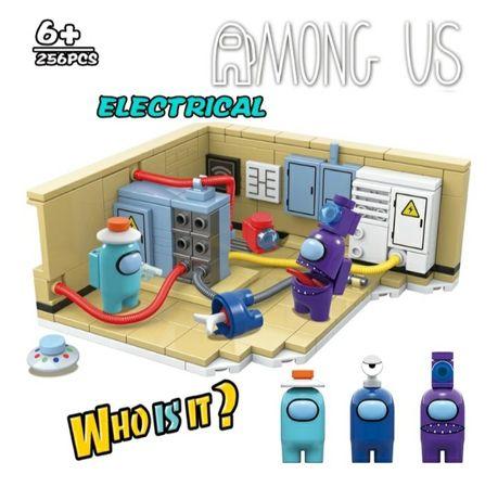 Klocki Among Us Electric + 3 figurki